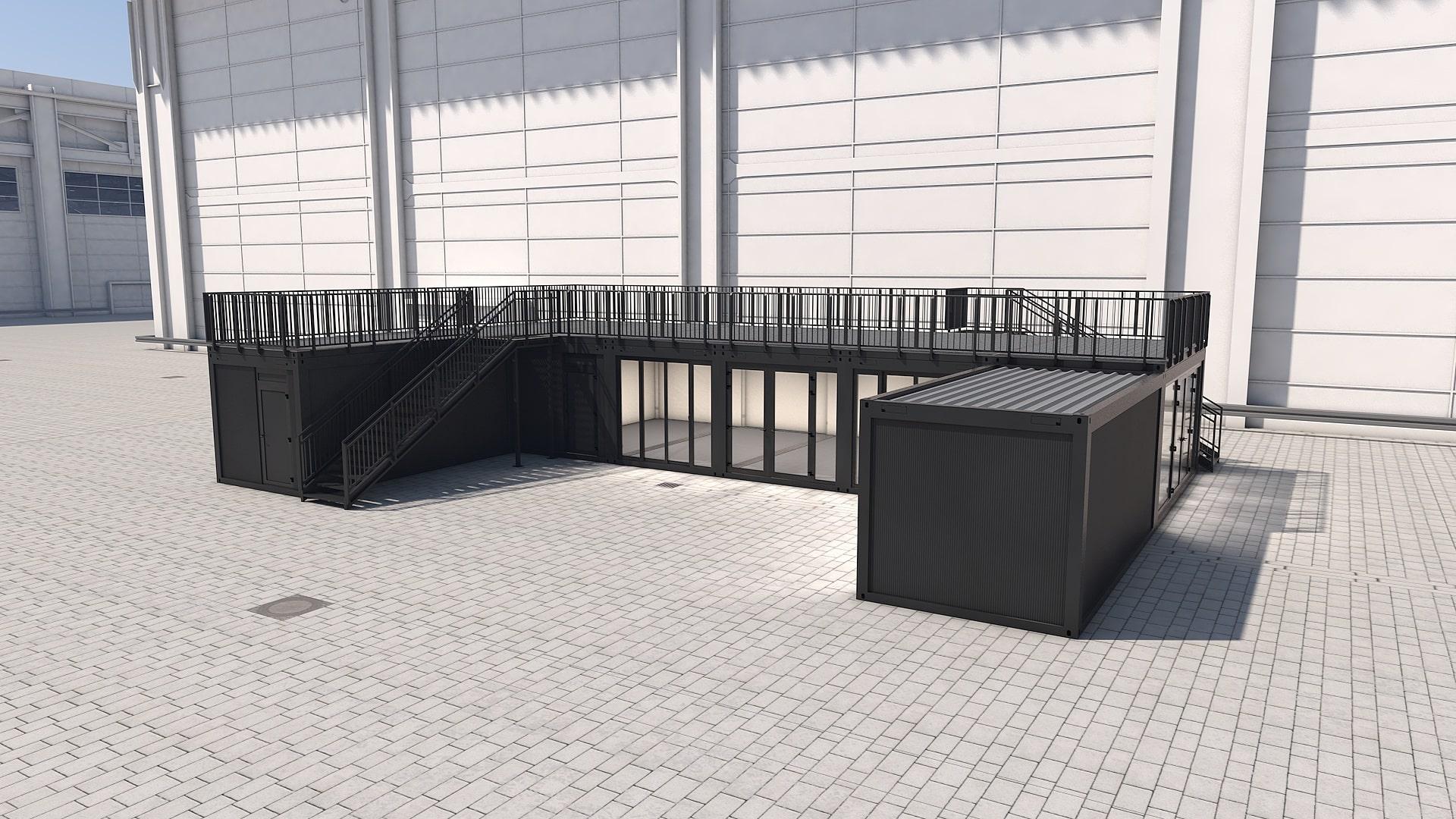 Container Modul M 33 - Ansicht 1