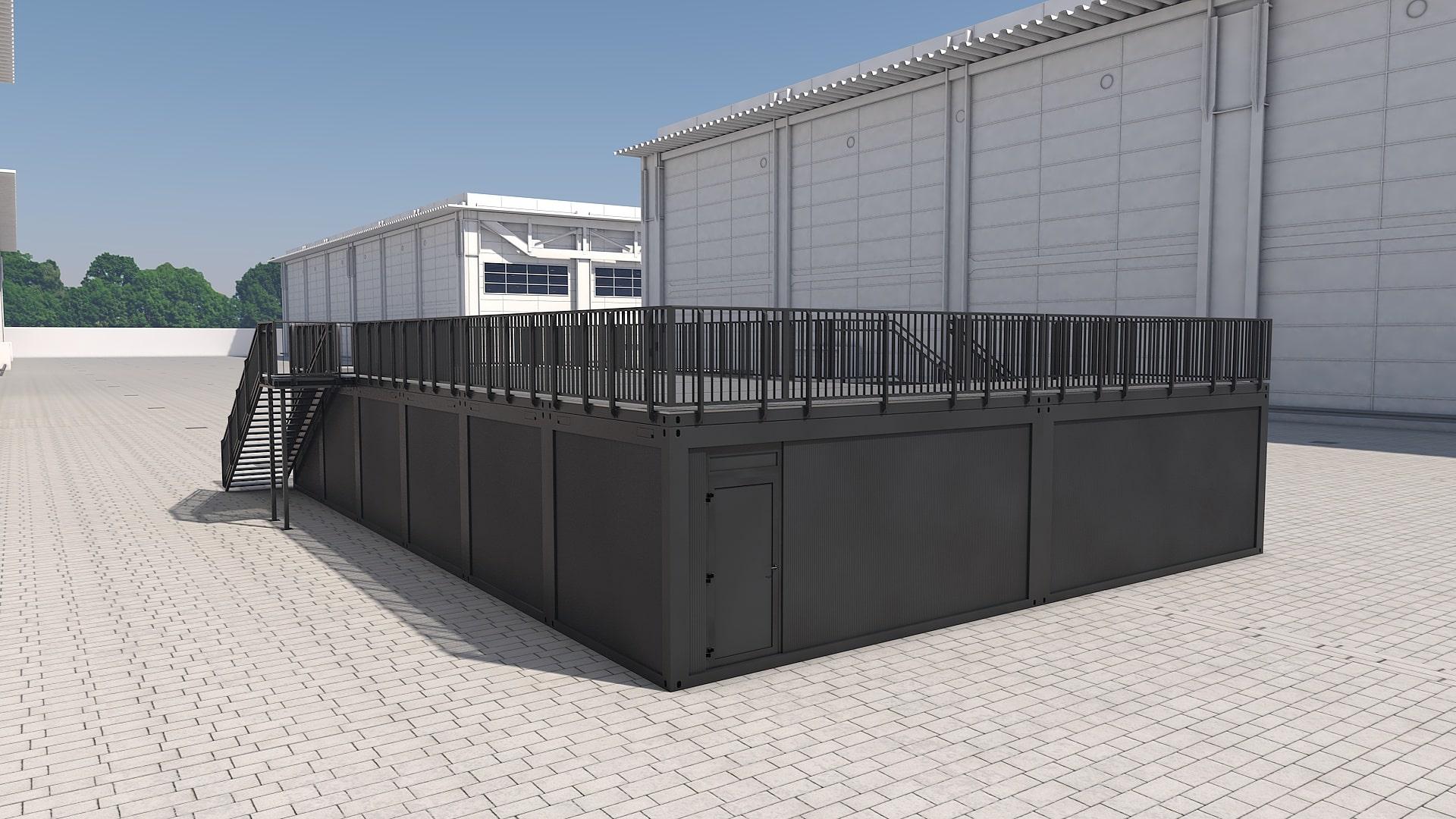 Container Modul M 33 - Ansicht 4