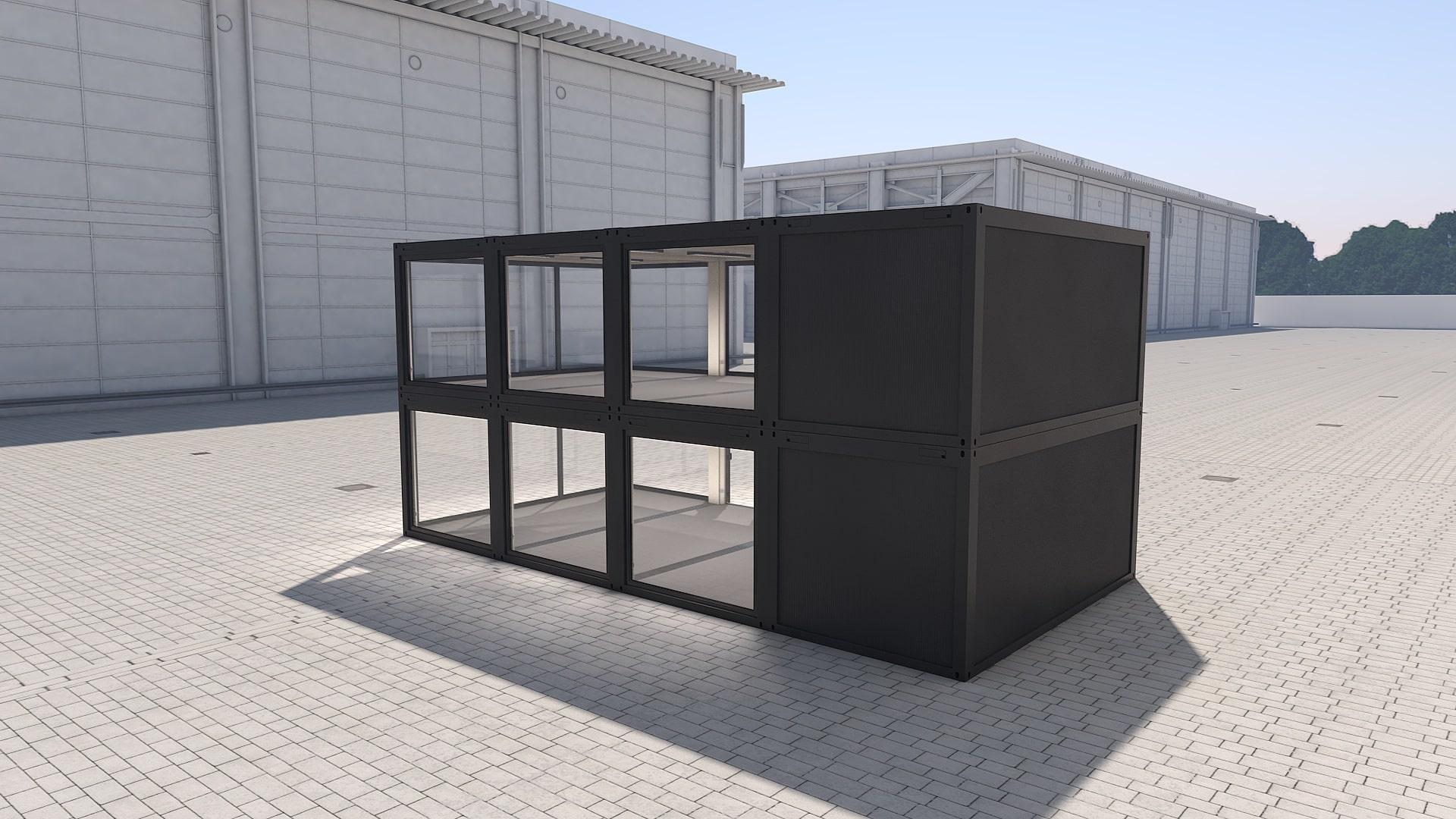 Container Modul M 34 - Ansicht 3