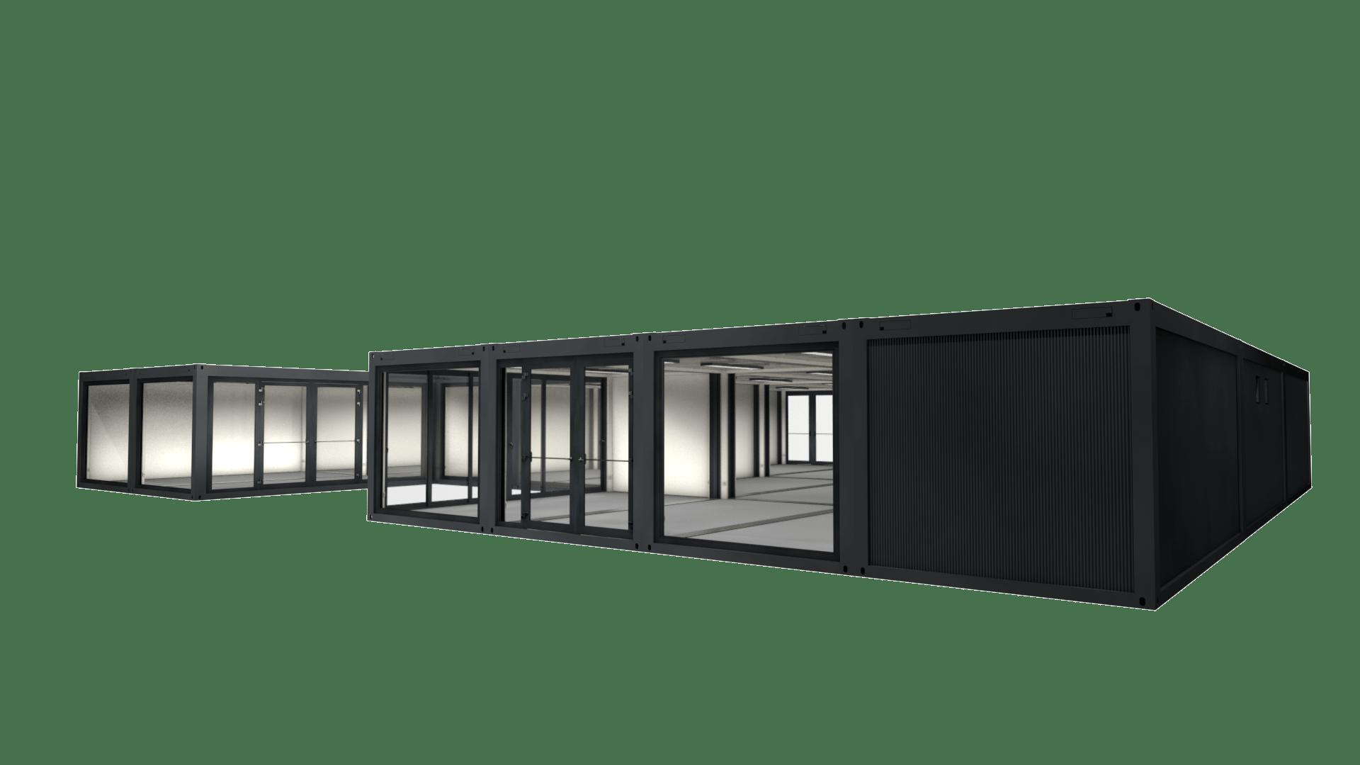 Container Modul M 35 ist eine großer Modulbau aus 22 Containern