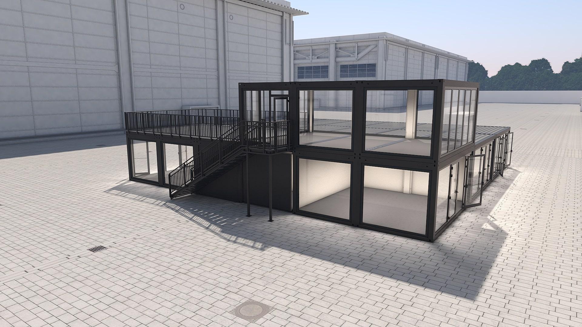 Container Modul M 36 - Ansicht 3