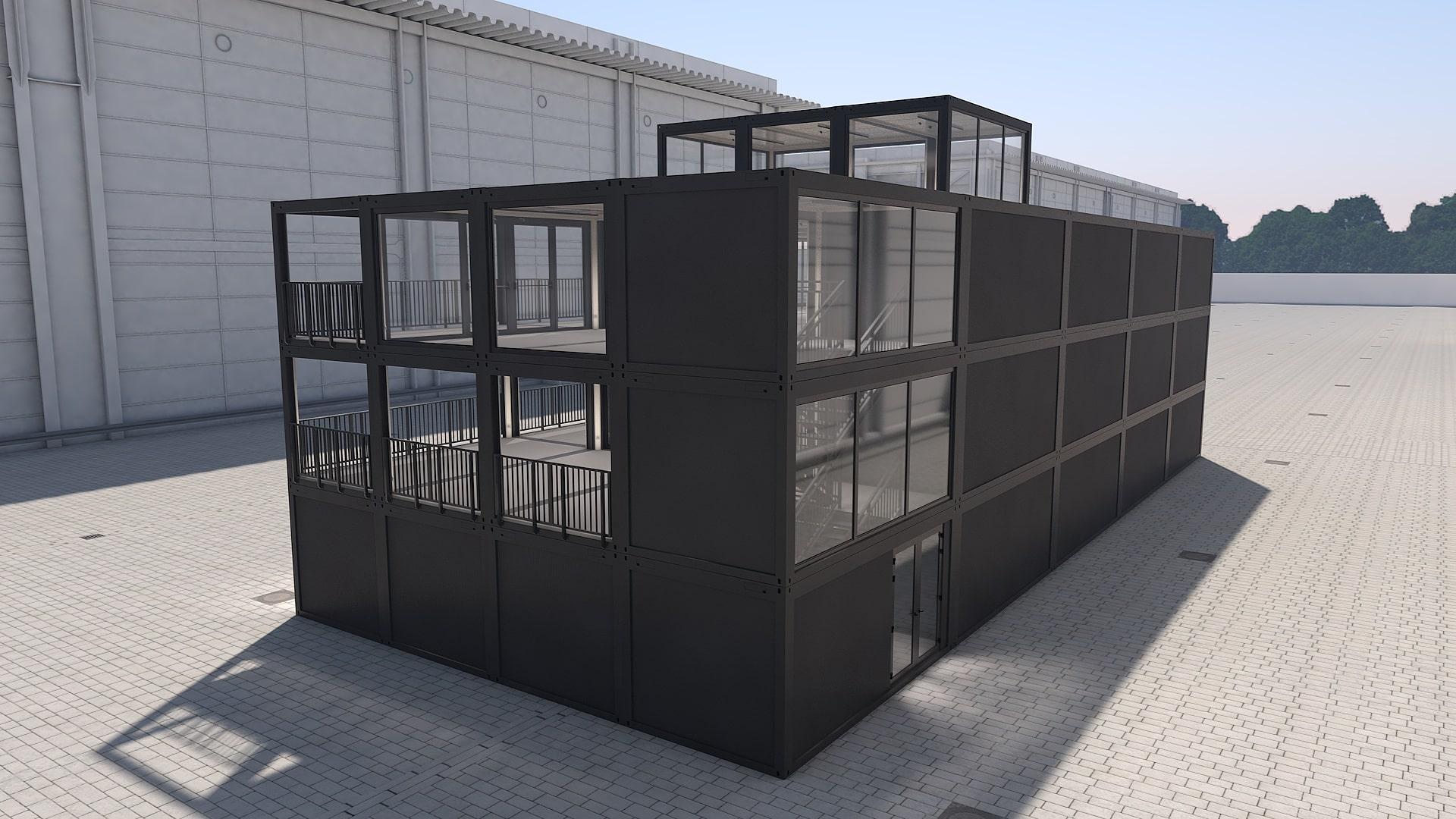 Container Modul M 37 - Ansicht 3