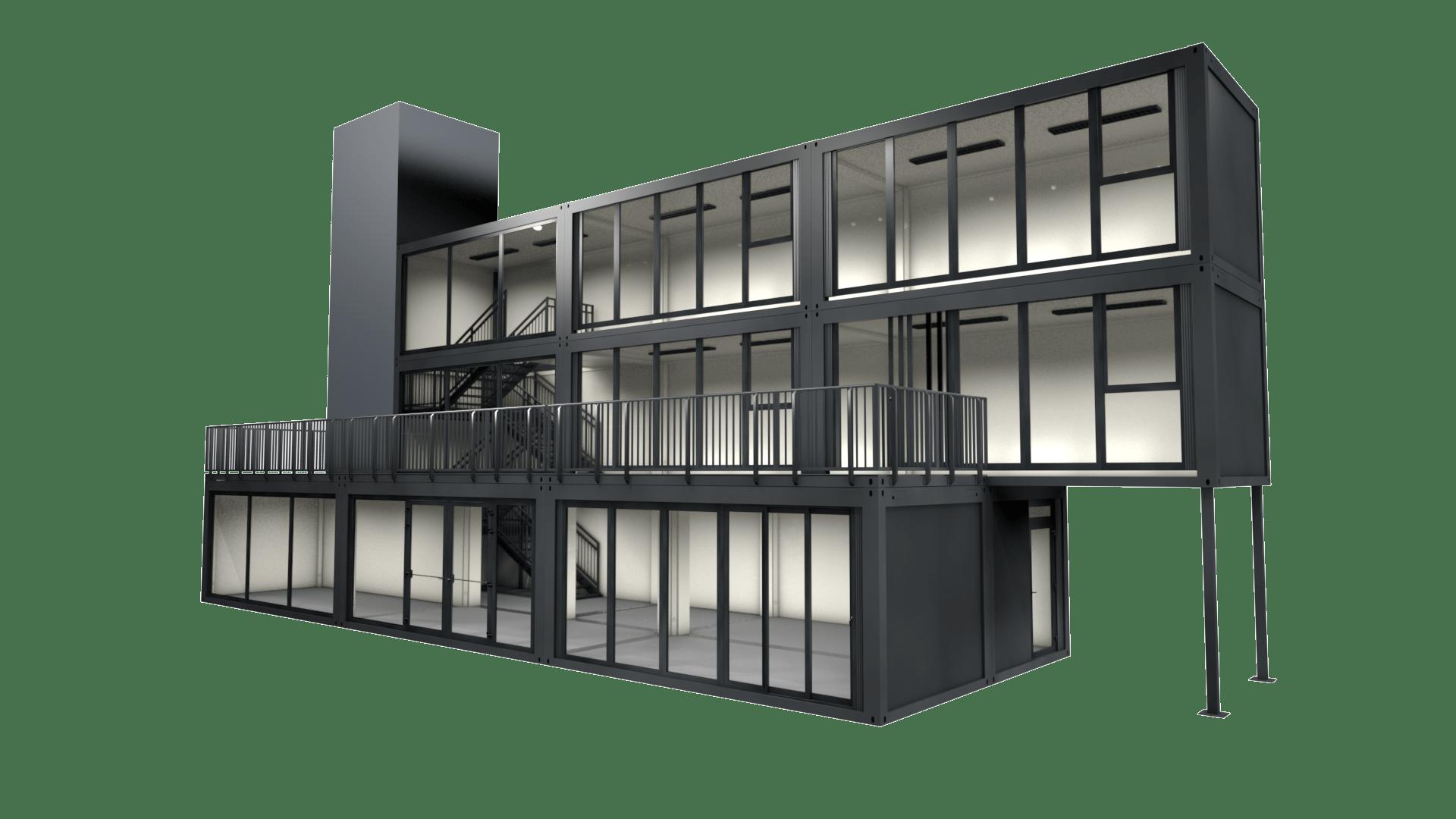 Container Modul M 38 ist ein großes Modulgebäude zum mieten oder kaufen