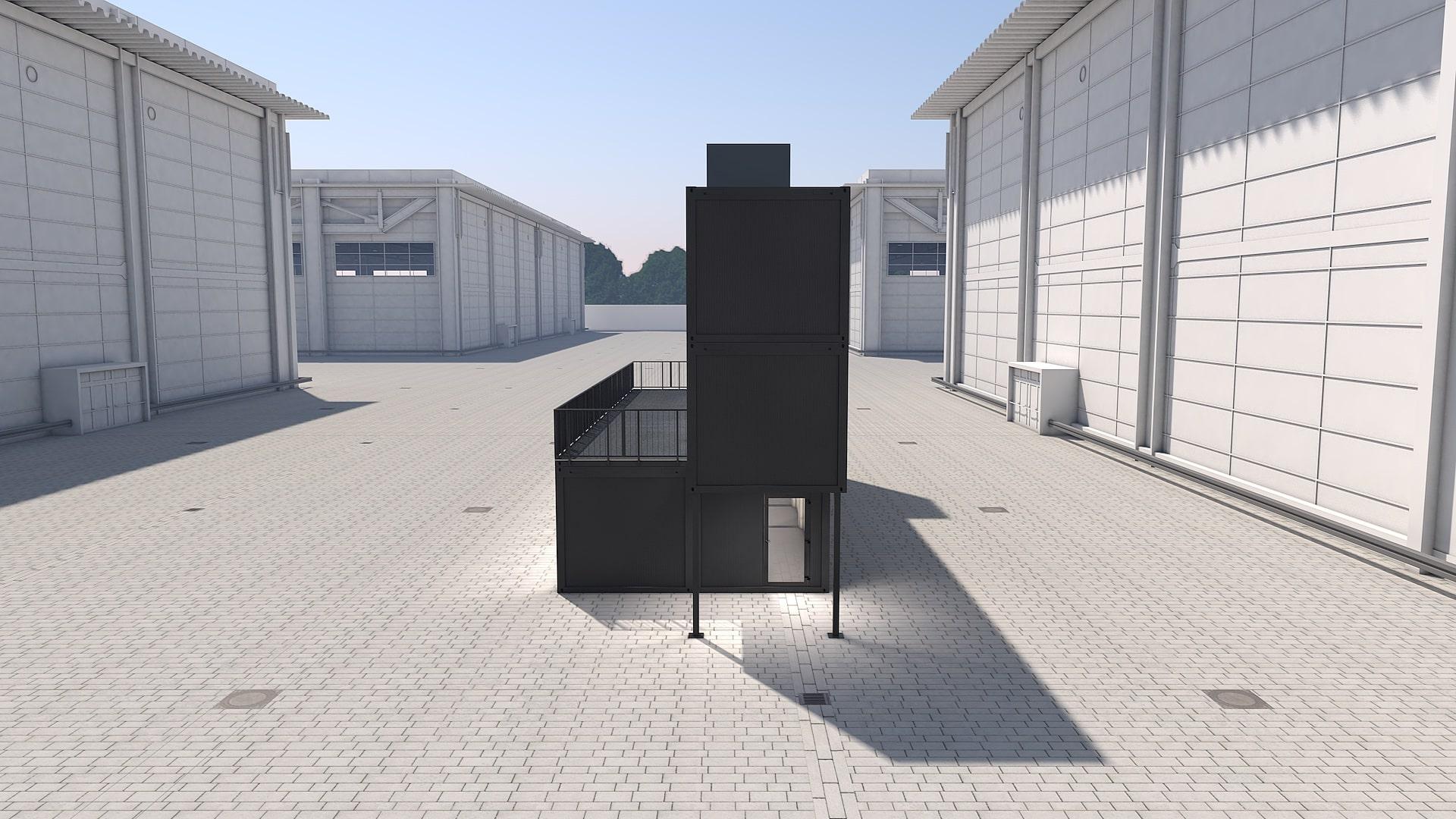 Container Modul M 38 - Ansicht 2