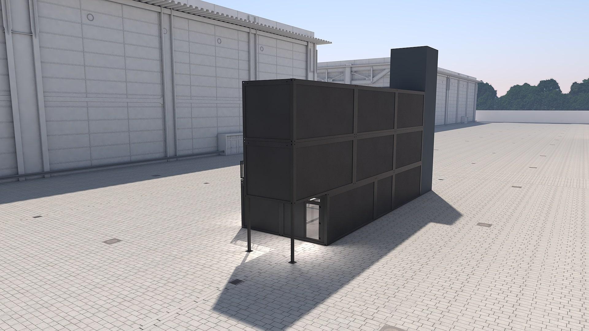 Container Modul M 38 - Ansicht 3