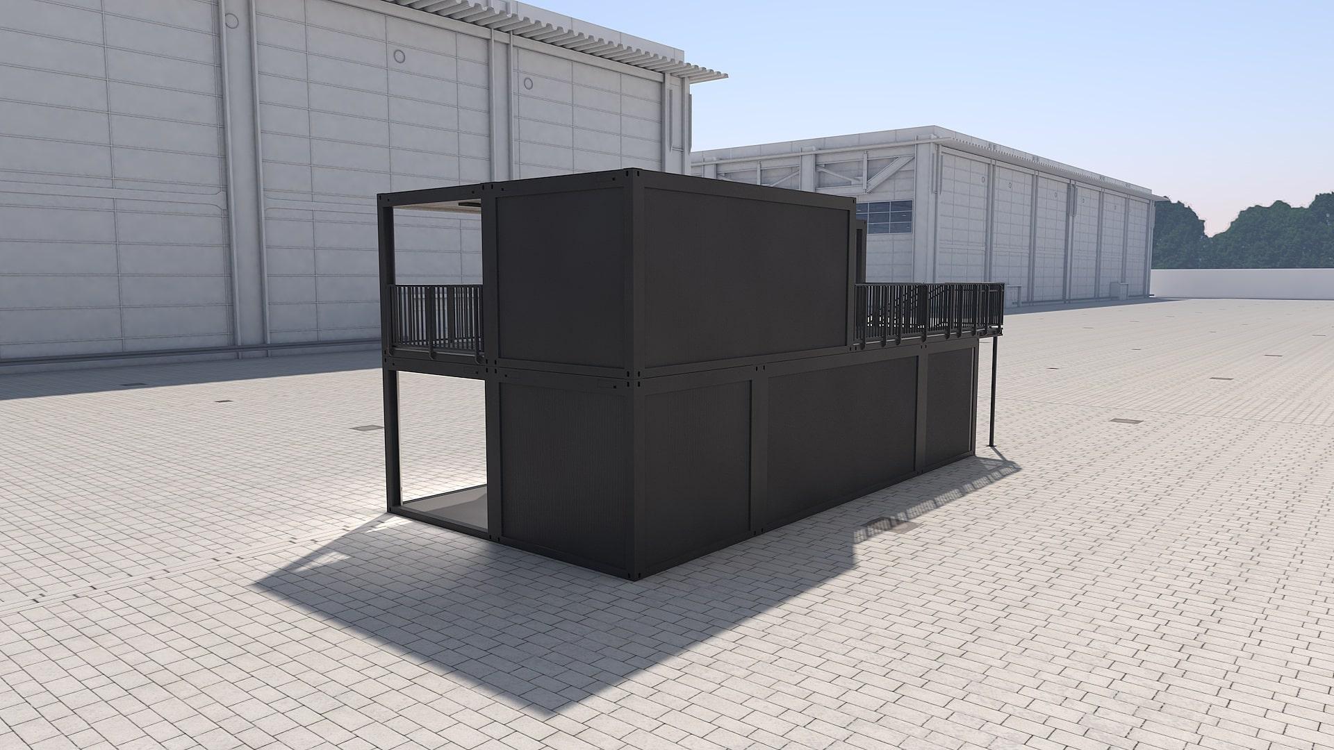 Container Modul M 39 - Ansicht 3