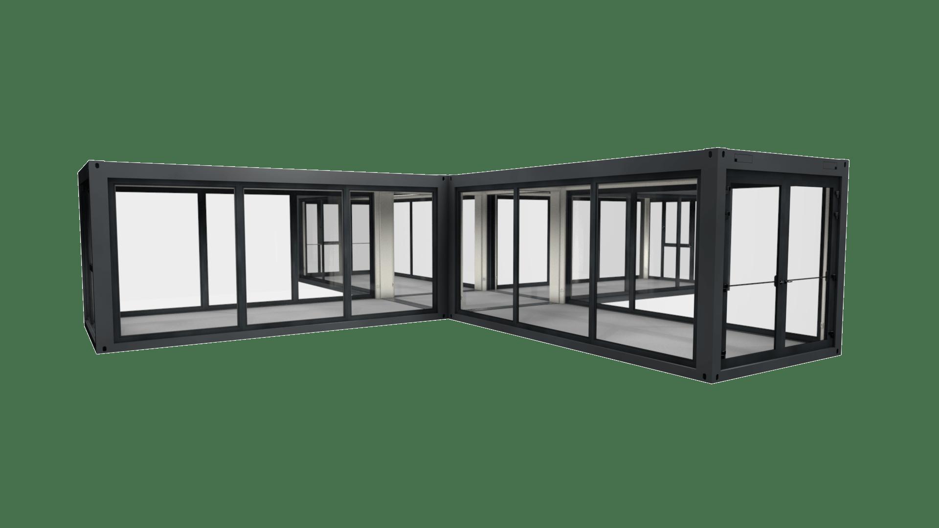 Container Modul M 40 ist vollverglast und hat ein besonderes Design