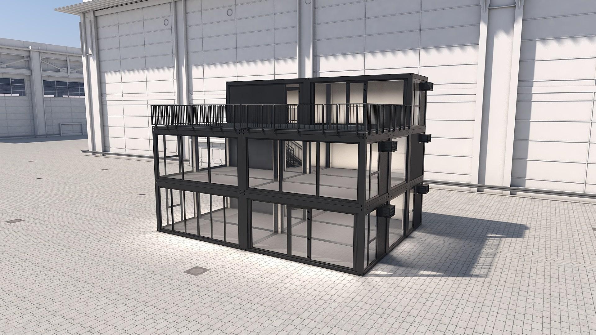 Container Modul M 41 - Ansicht 1