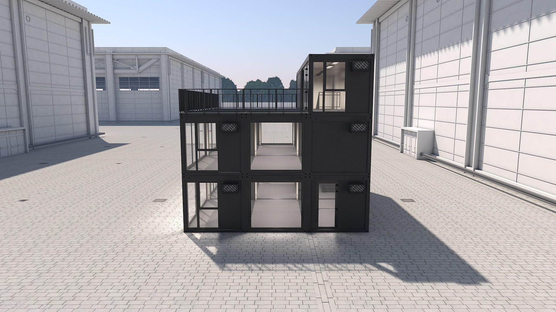 Container Modul M 41 - Ansicht 2