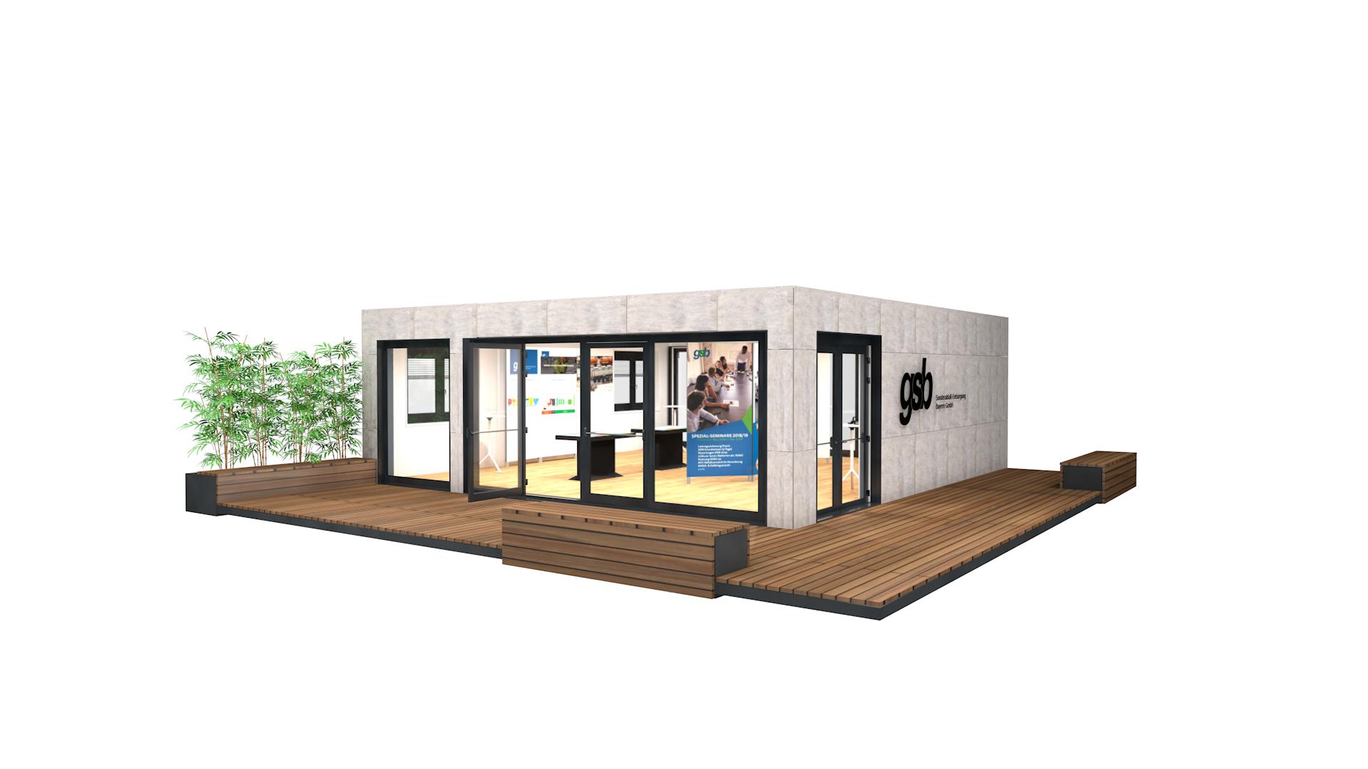 Containermodul Ausstellung