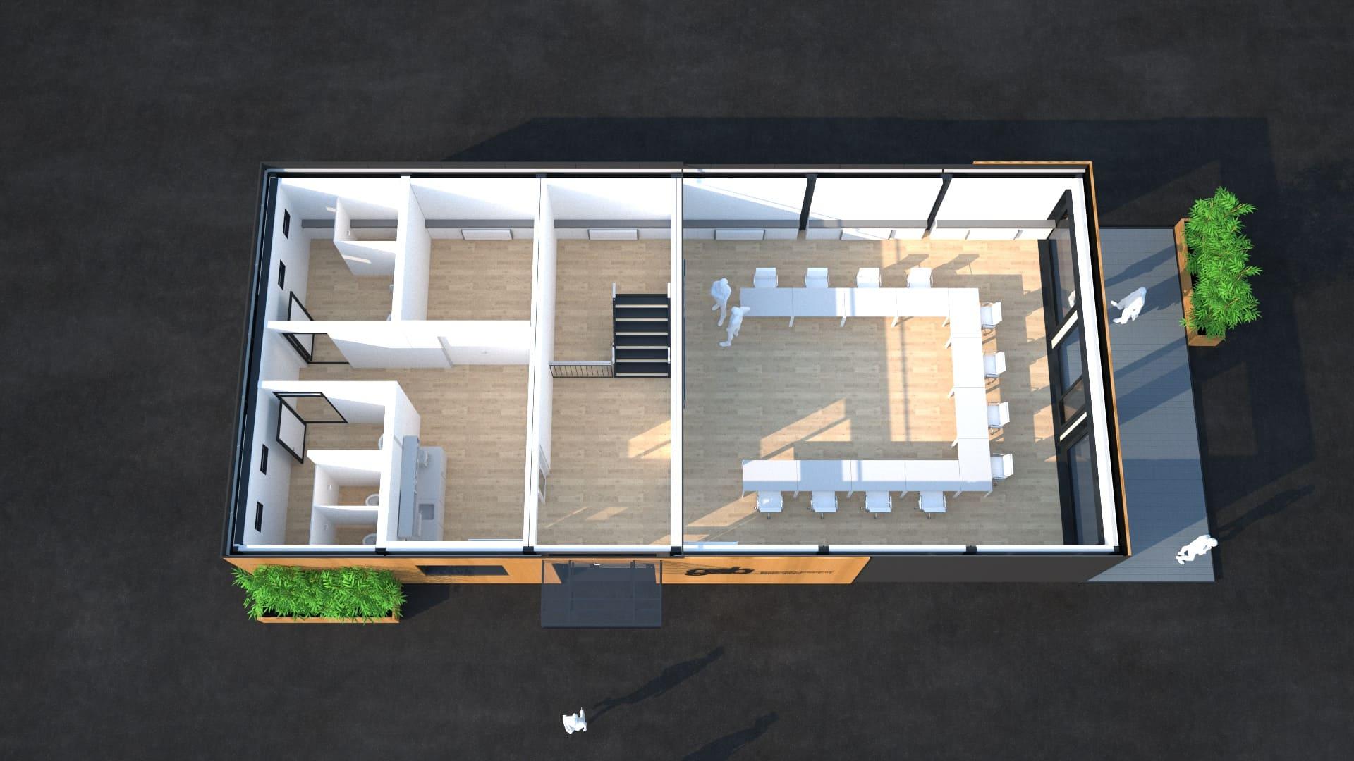 Modulares Bürogebäude 07