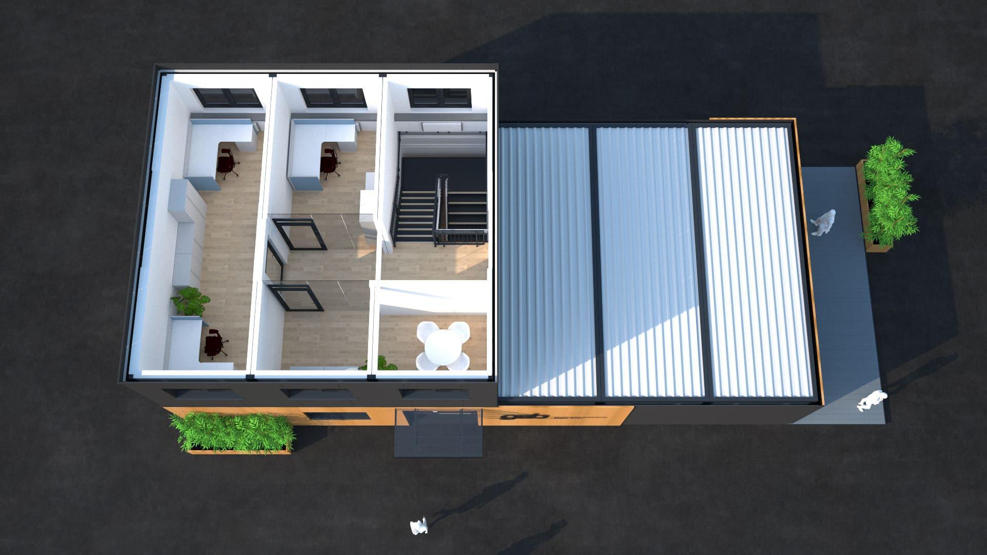Modulares Bürogebäude 08
