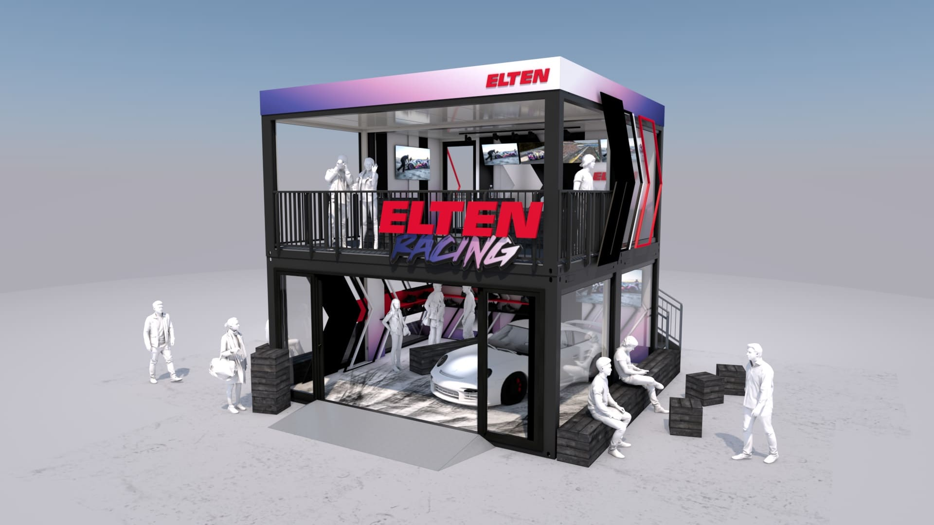 Eventcontainer Showroom - Rennsport - Porsche - Elten 06