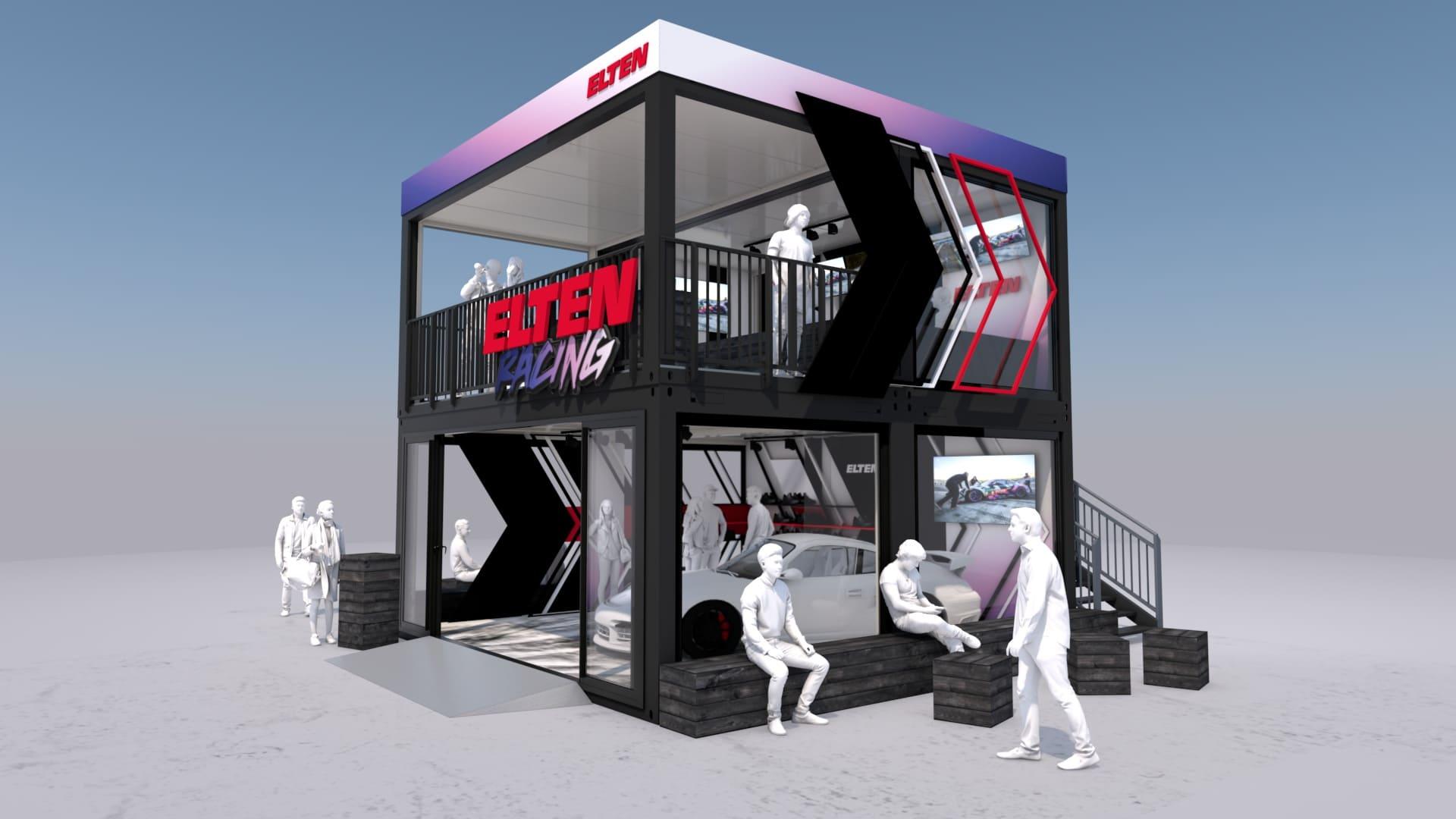 Eventcontainer Showroom - Rennsport - Porsche - Elten 07