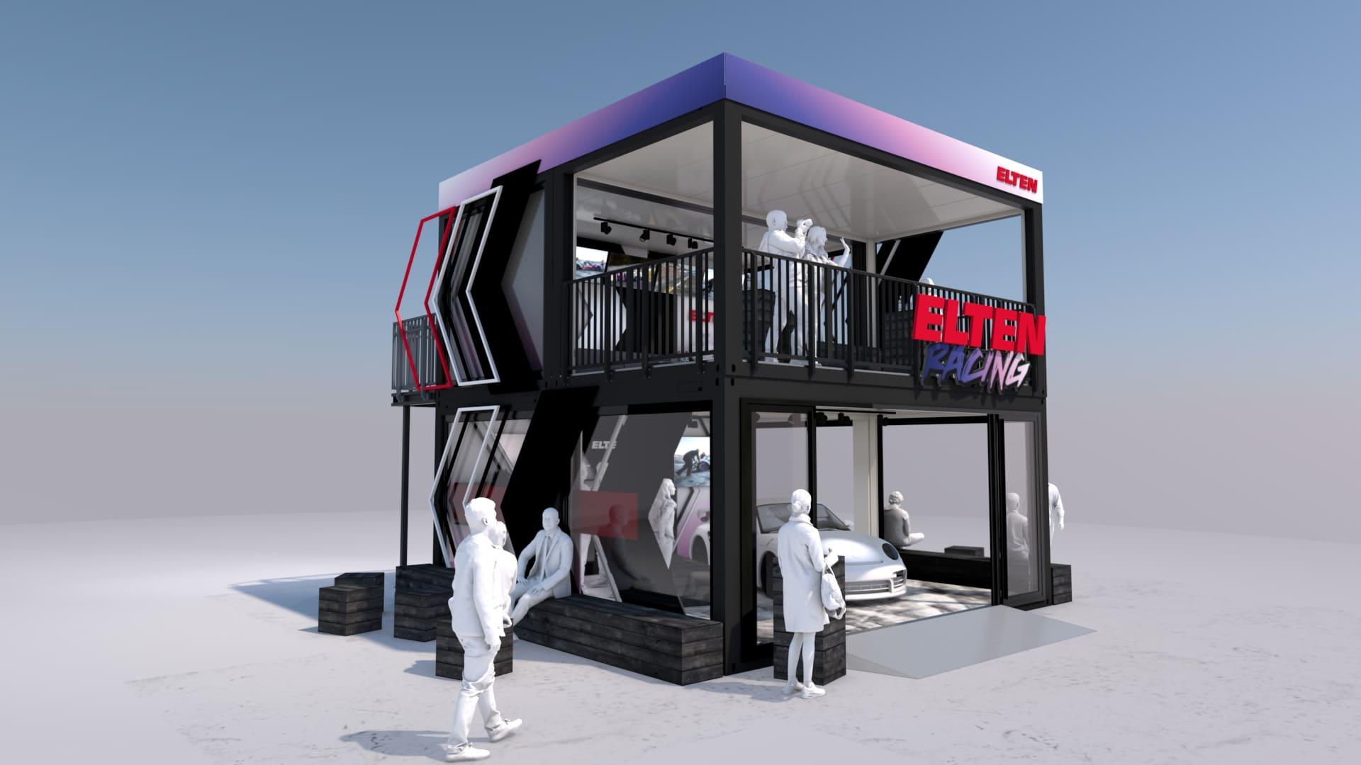 Eventcontainer Showroom - Rennsport - Porsche - Elten 10