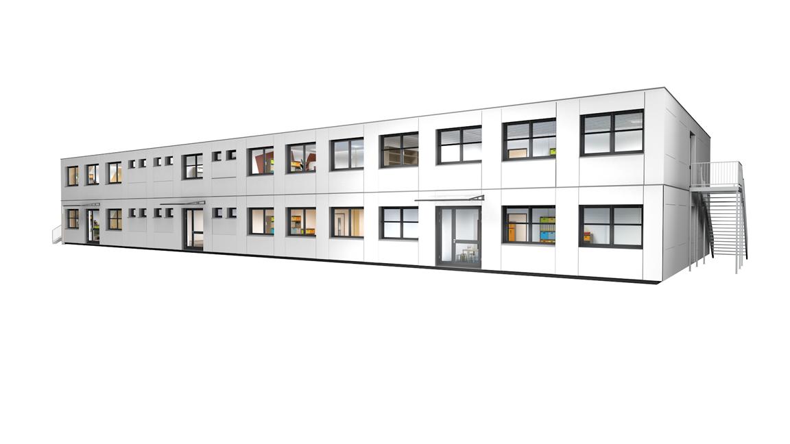 Modulares Bildungsgebäude-kindergarten - Varainte L