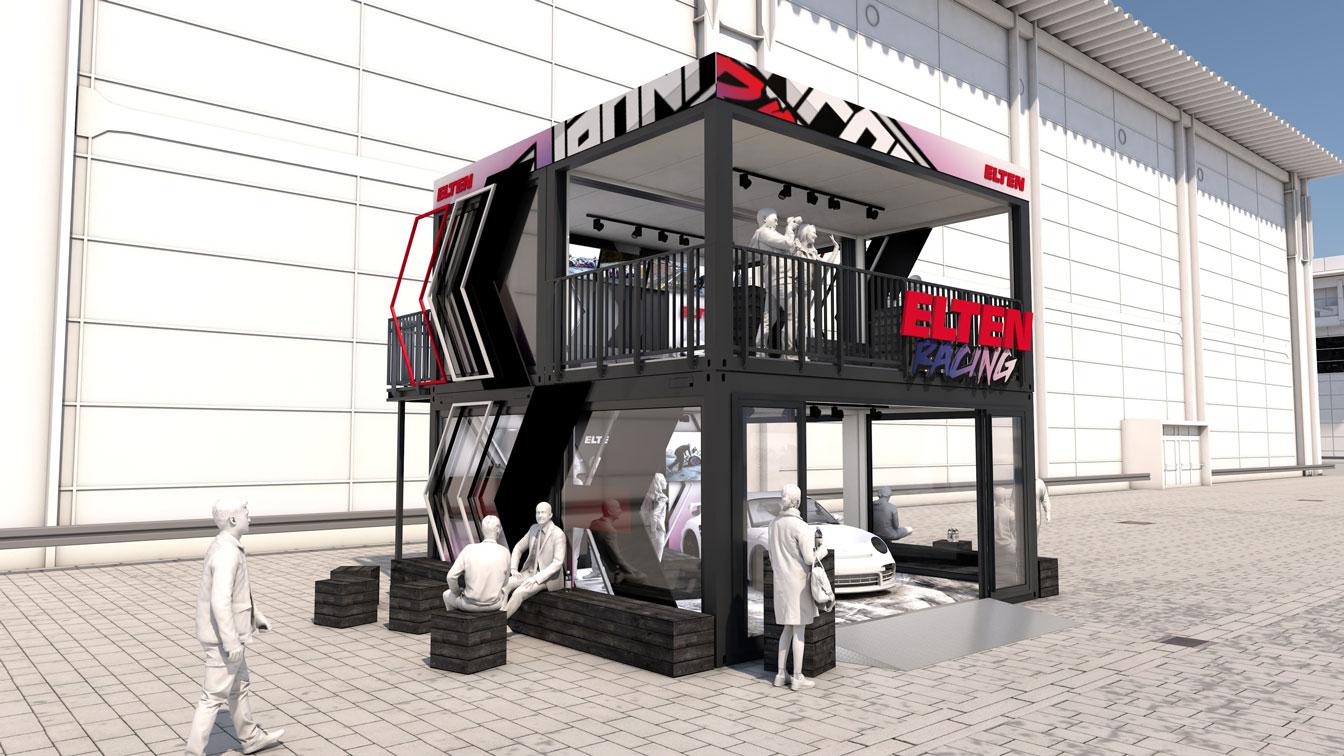 Eventcontainer Showroom - Rennsport - Porsche - Elten 04