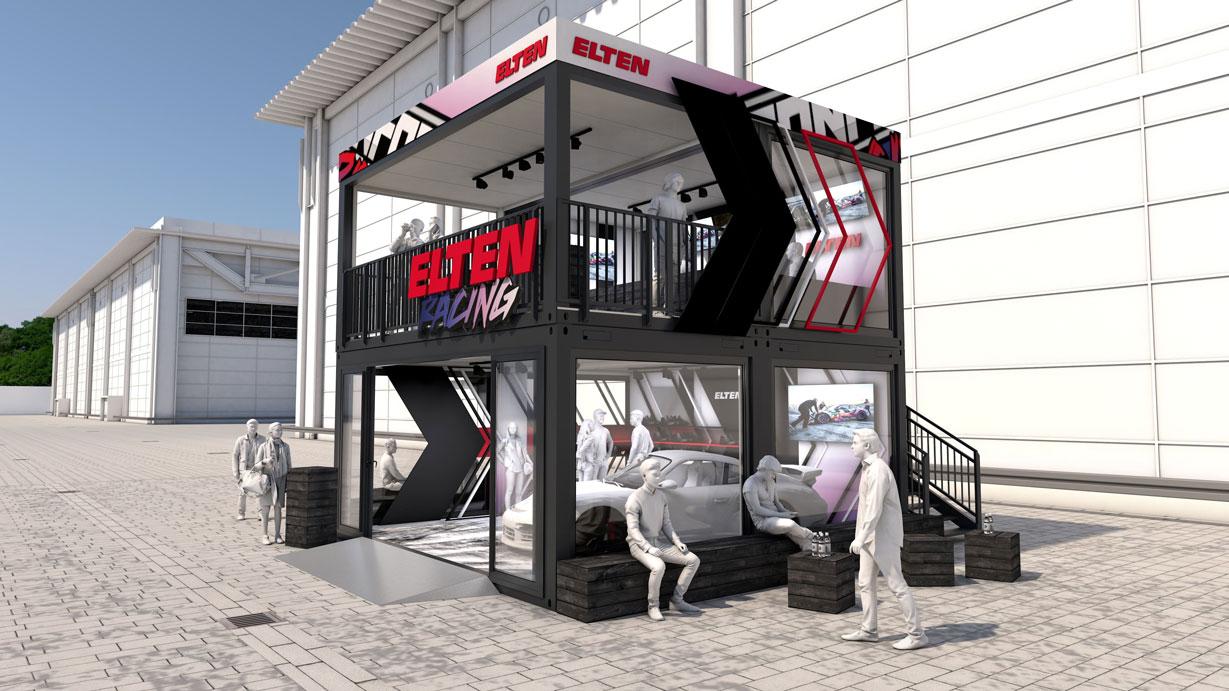 Eventcontainer Showroom - Rennsport - Porsche - Elten 02