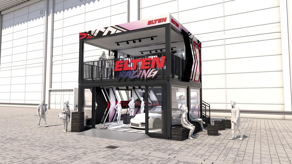 Eventcontainer Showroom - Rennsport - Porsche - Elten 01