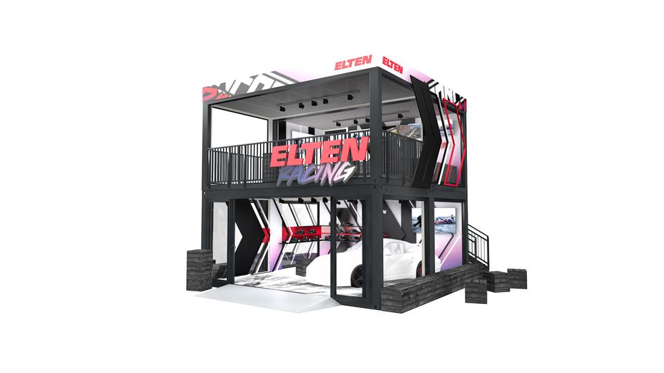 Eventcontainer Showroom - Rennsport - Porsche - Elten