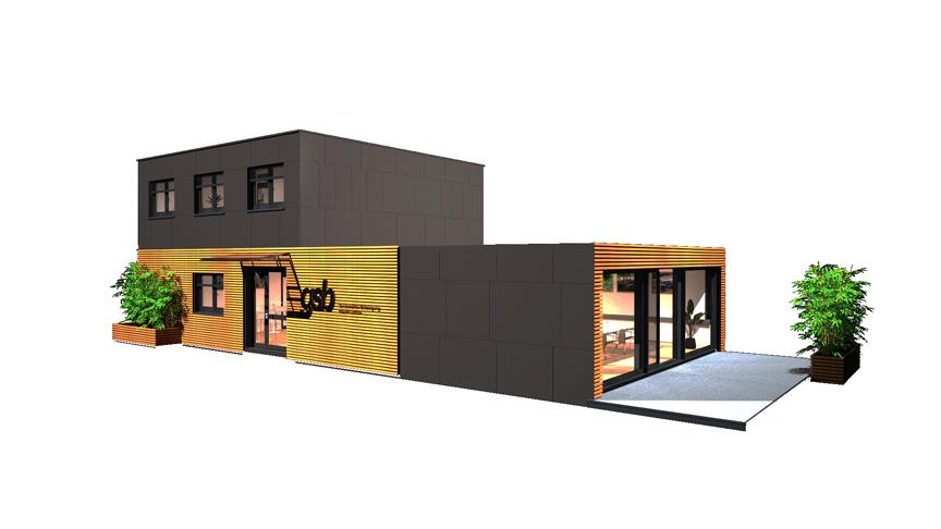Modulares Bürogebäude