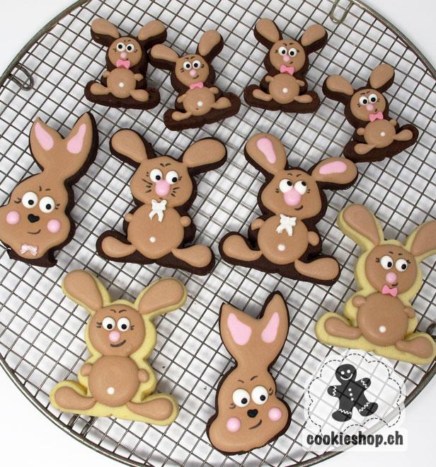 Süsse Backwaren von Hand mit viel Liebe hergestellt. Cookies in allen Formen und Farben