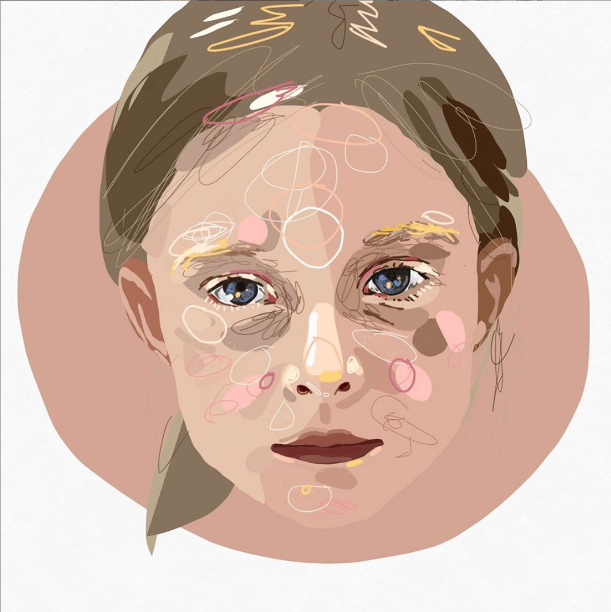 Illustrazione di un ritratto digitale