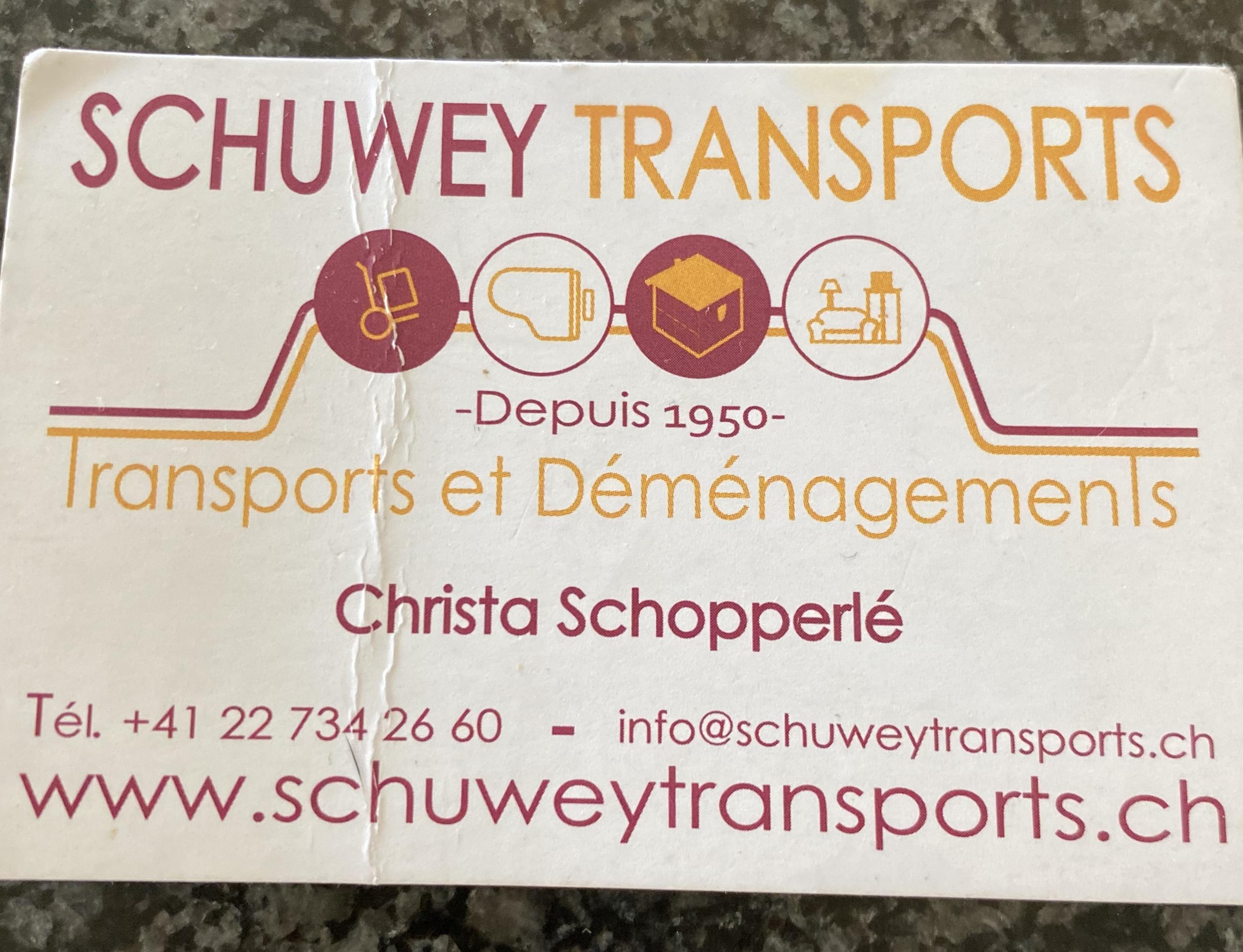 Déménagement Schuwey