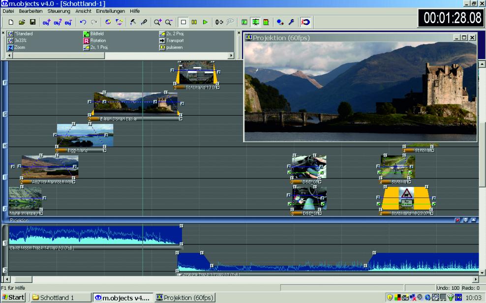 Programmazione di film/fotoshow con m.objects