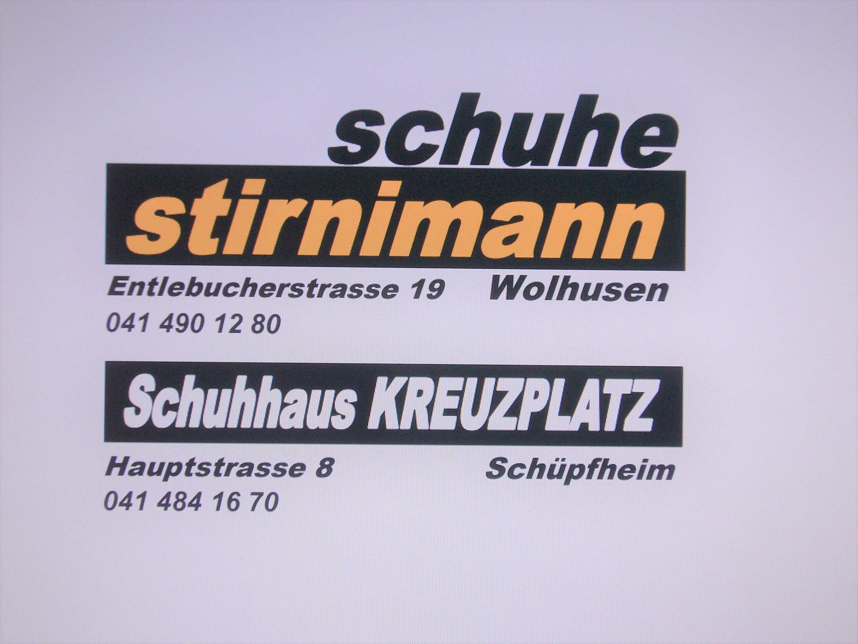 Stirnimann shoes Wolhusen and shoe store Kreuzplatz Schüpfheim