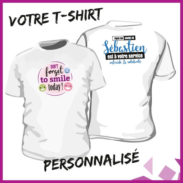 Des articles personnalisés pour tous : du t-shirt imprimé au désinfectant avec étiquette personnalisée, nous avons sûrement la solution !