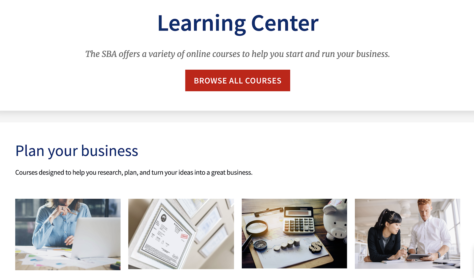 Small Business Administration Learning Center