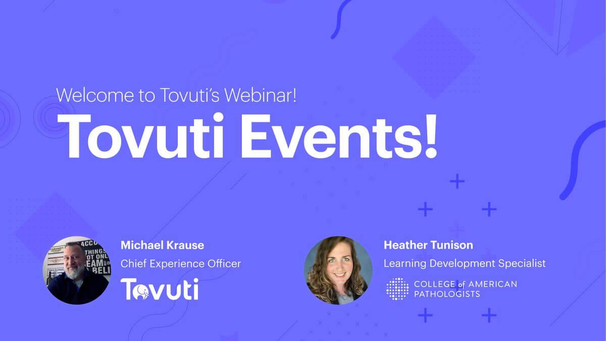 Tovuti Events (Webinar)