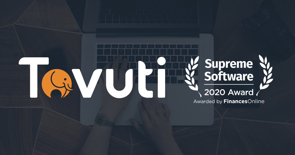 Tovuti Awarded Supreme Software by FinancesOnline