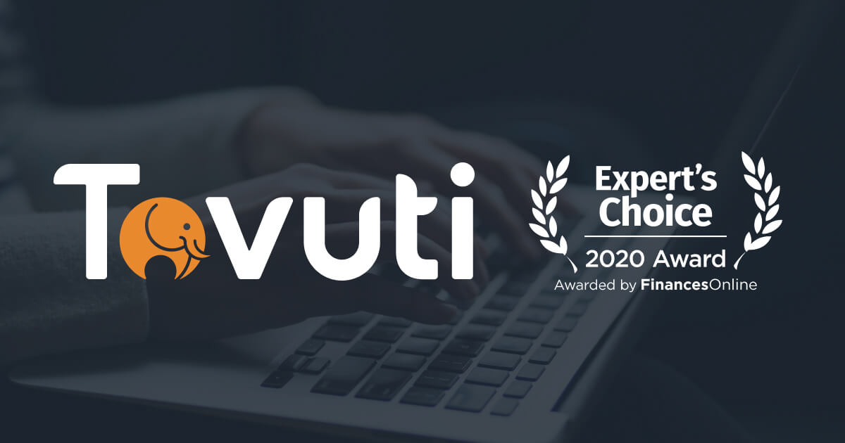 Tovuti Awarded Expert's Choice by FinancesOnline