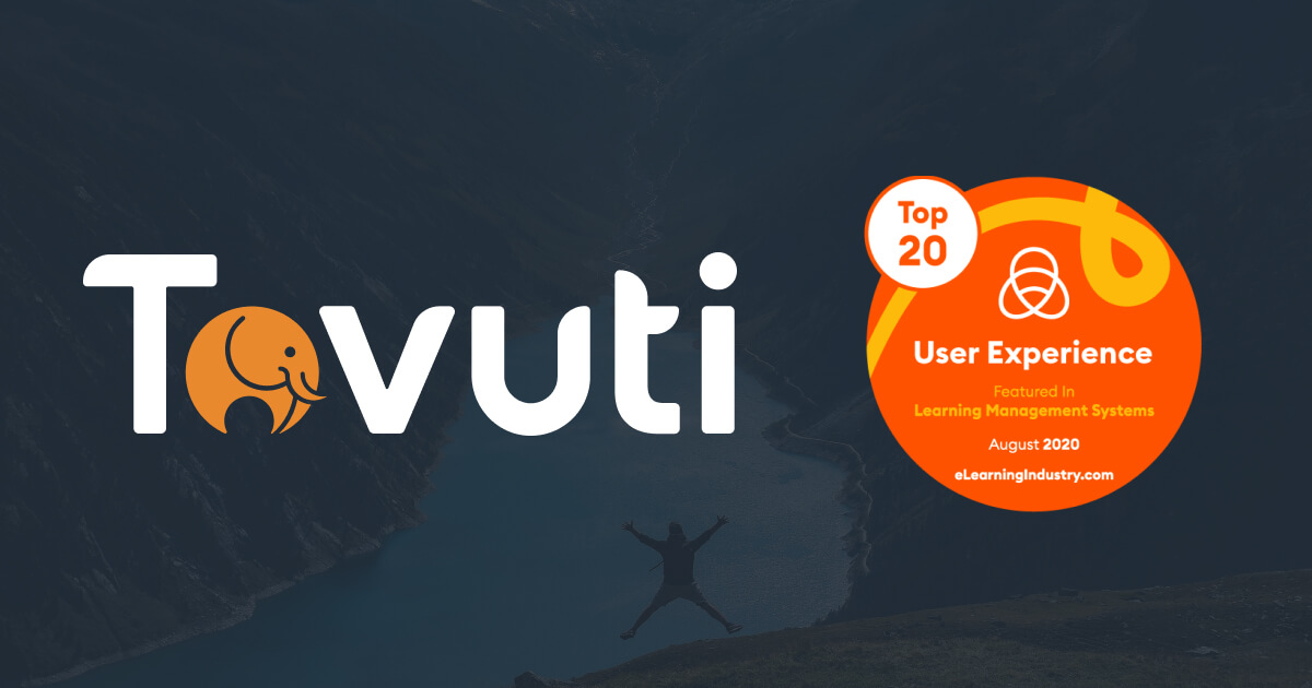 Tovuti Awarded Best User Experience by eLearning Industry