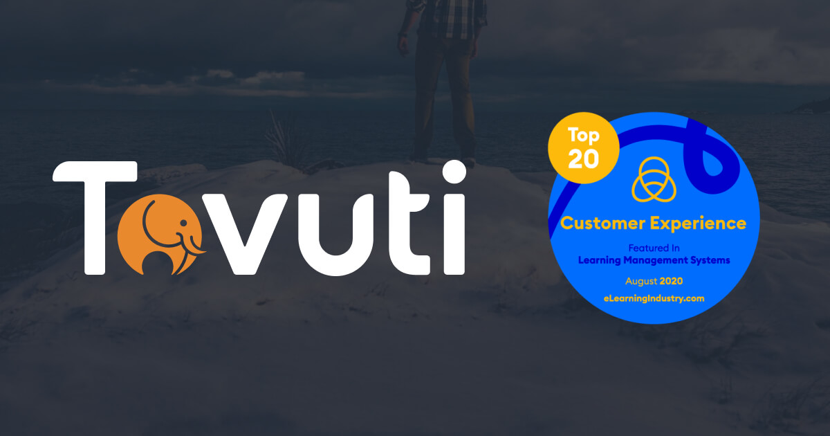 Tovuti Awarded Best Customer Experience by eLearning Industry