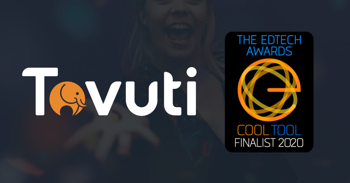 Tovuti was a finalist to win the EdTech Cool Tool Awards for Authoring Tools Solution