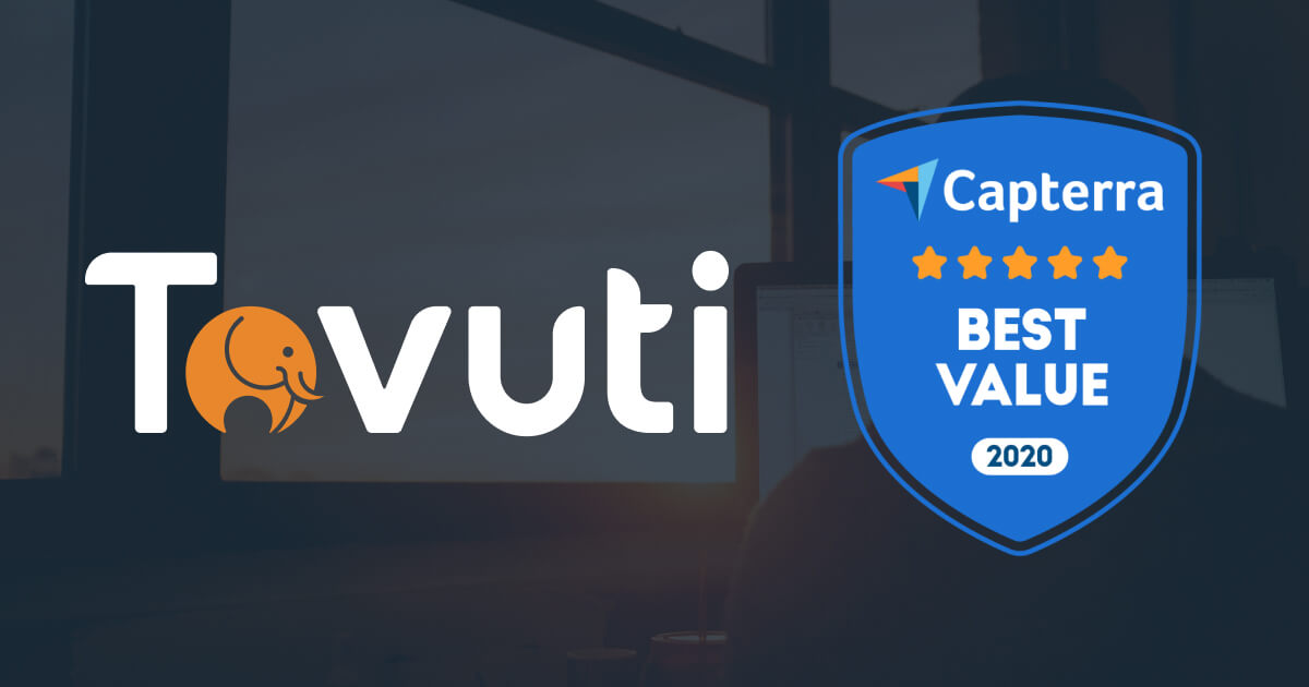 Tovuti Awarded Best Value Learning Management System (LMS) by Capterra