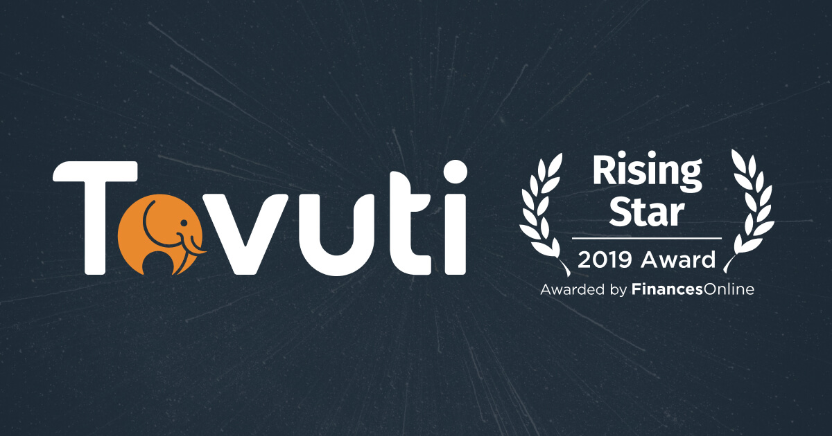 Tovuti wins 2019 Rising Star and Premium Usability Awards from FinancesOnline