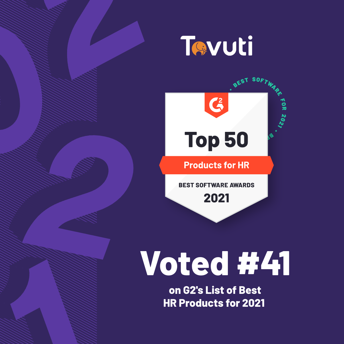"Tovuti Named to G2's ""Best Products For HR"" 2021 List"