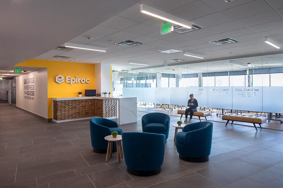 lobby of Epiroc headquarters