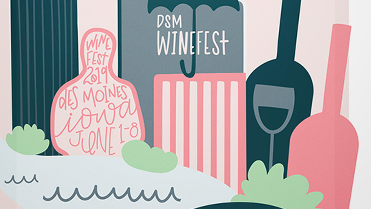 2019 illustrated Winefest poster.