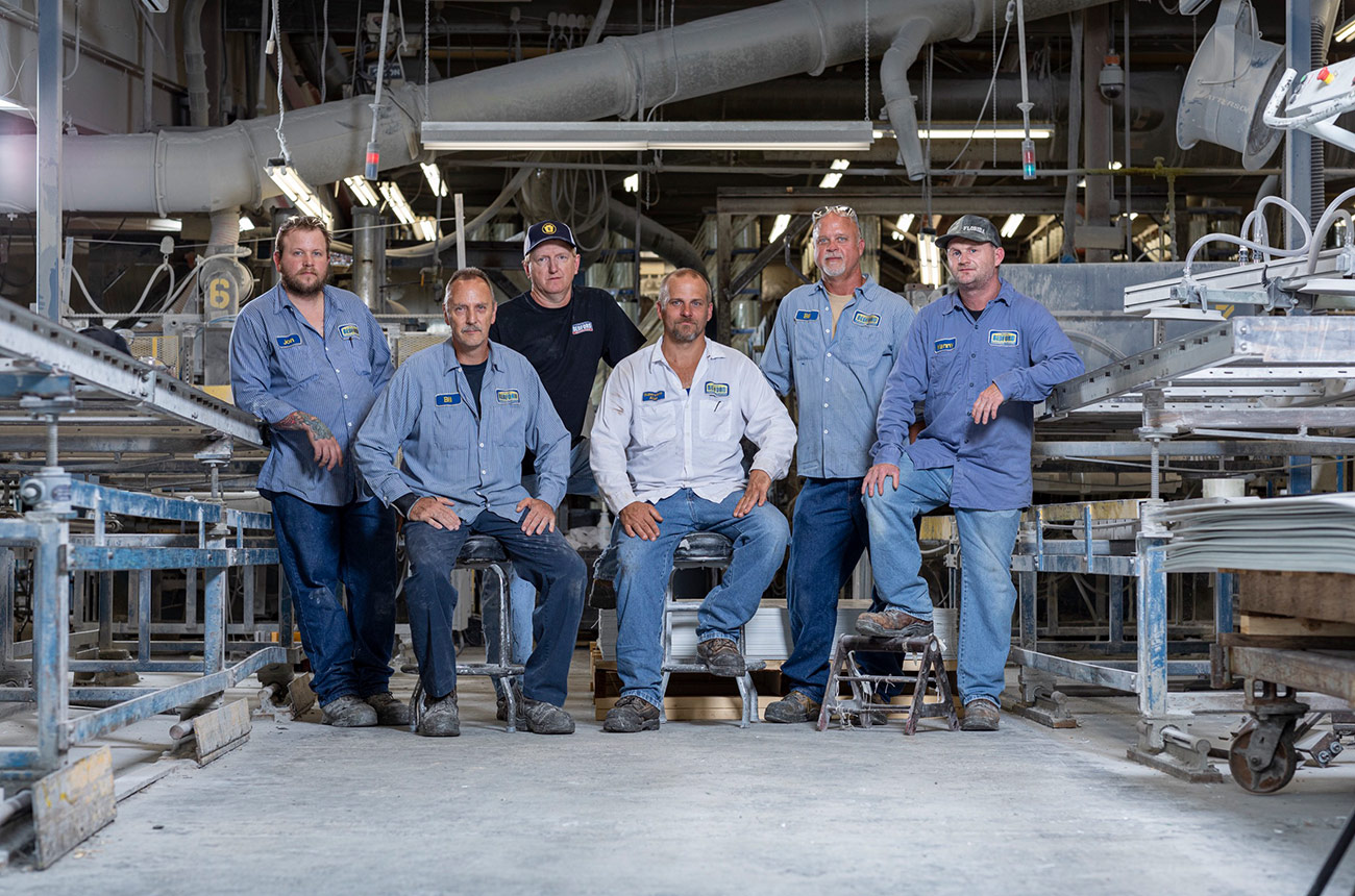 manufacturing employee group photo
