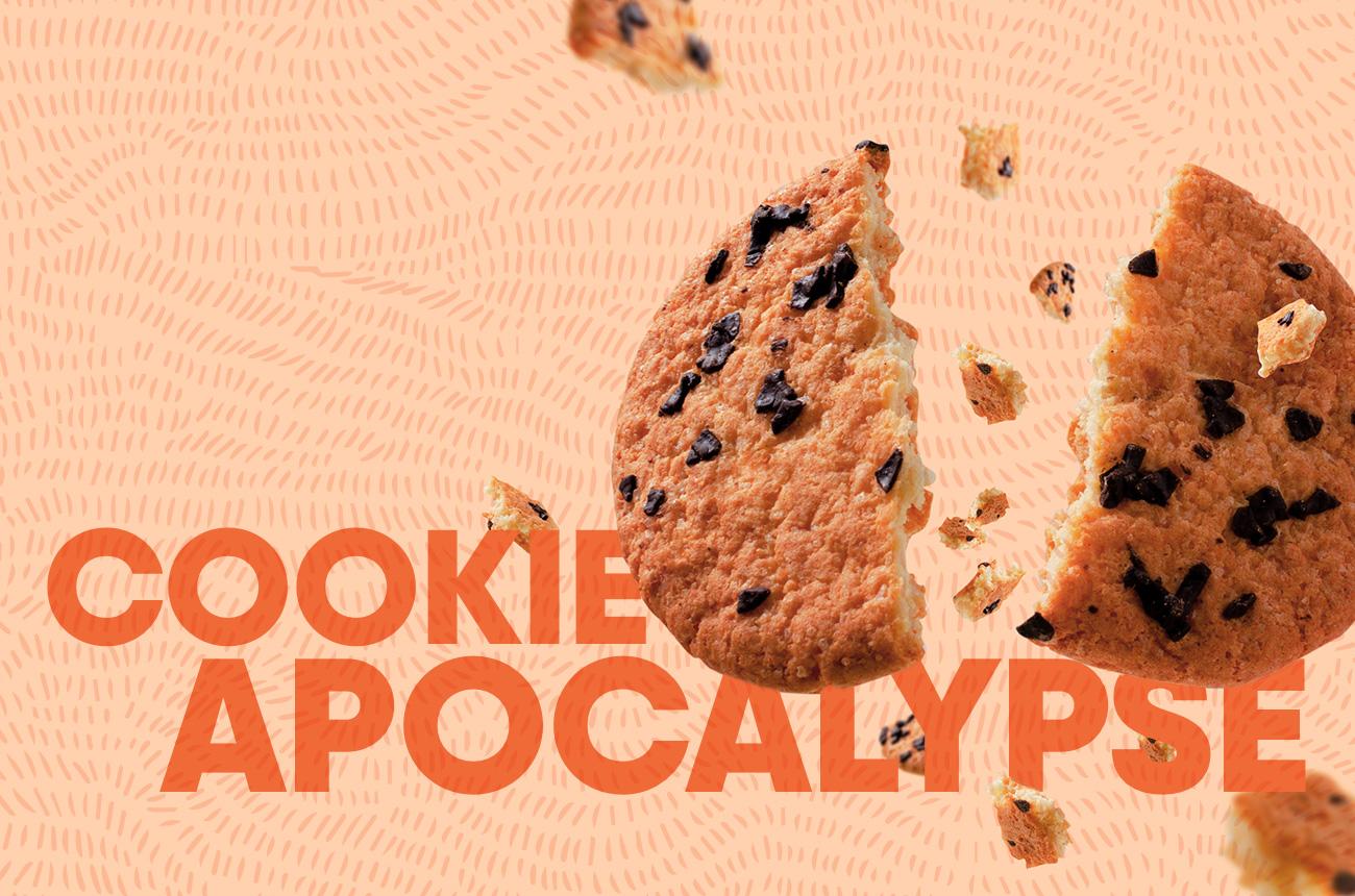 Cookie breaking in half with words Cookie Apocalypse showing.