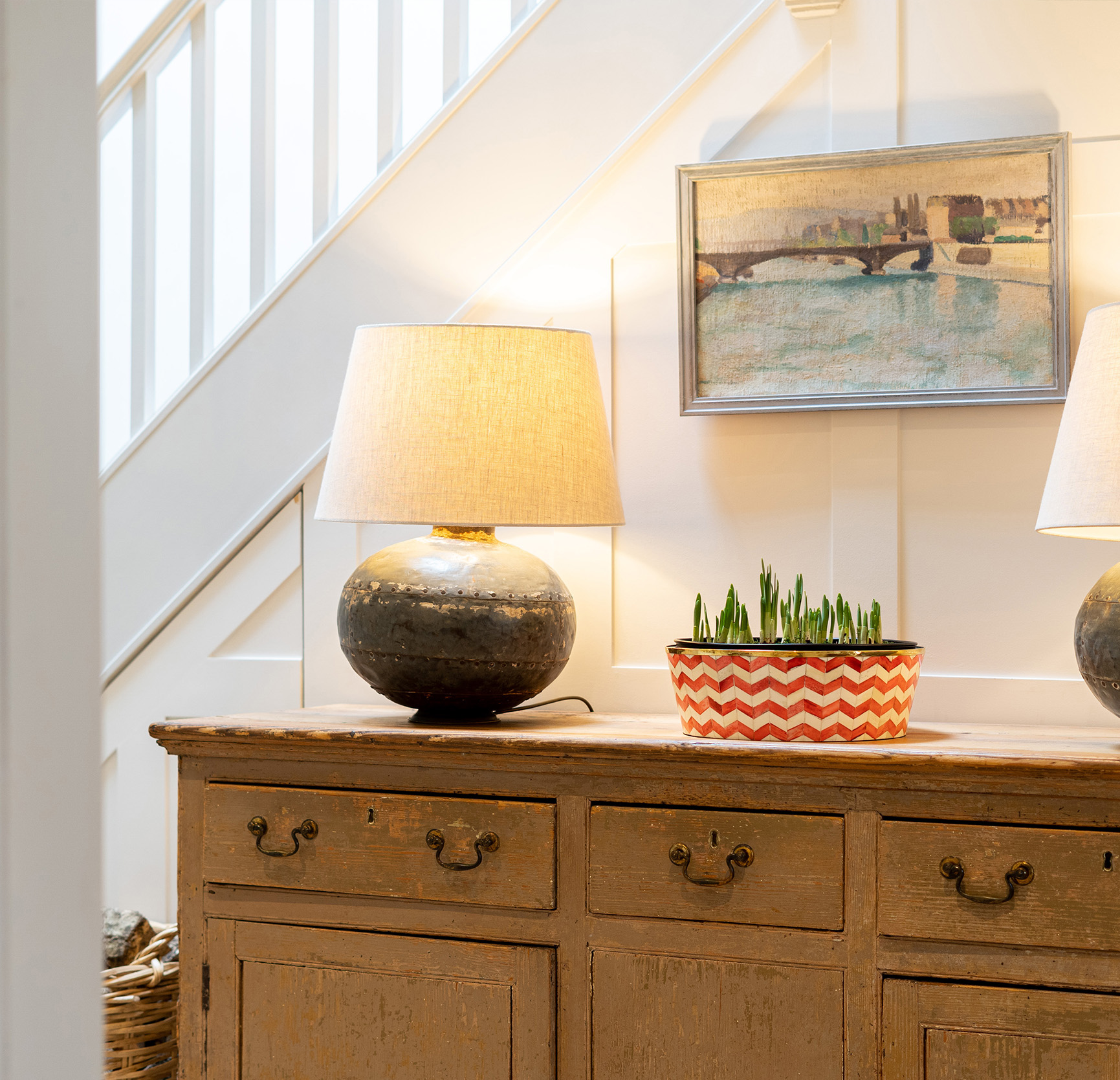 A contemporary open plan interior