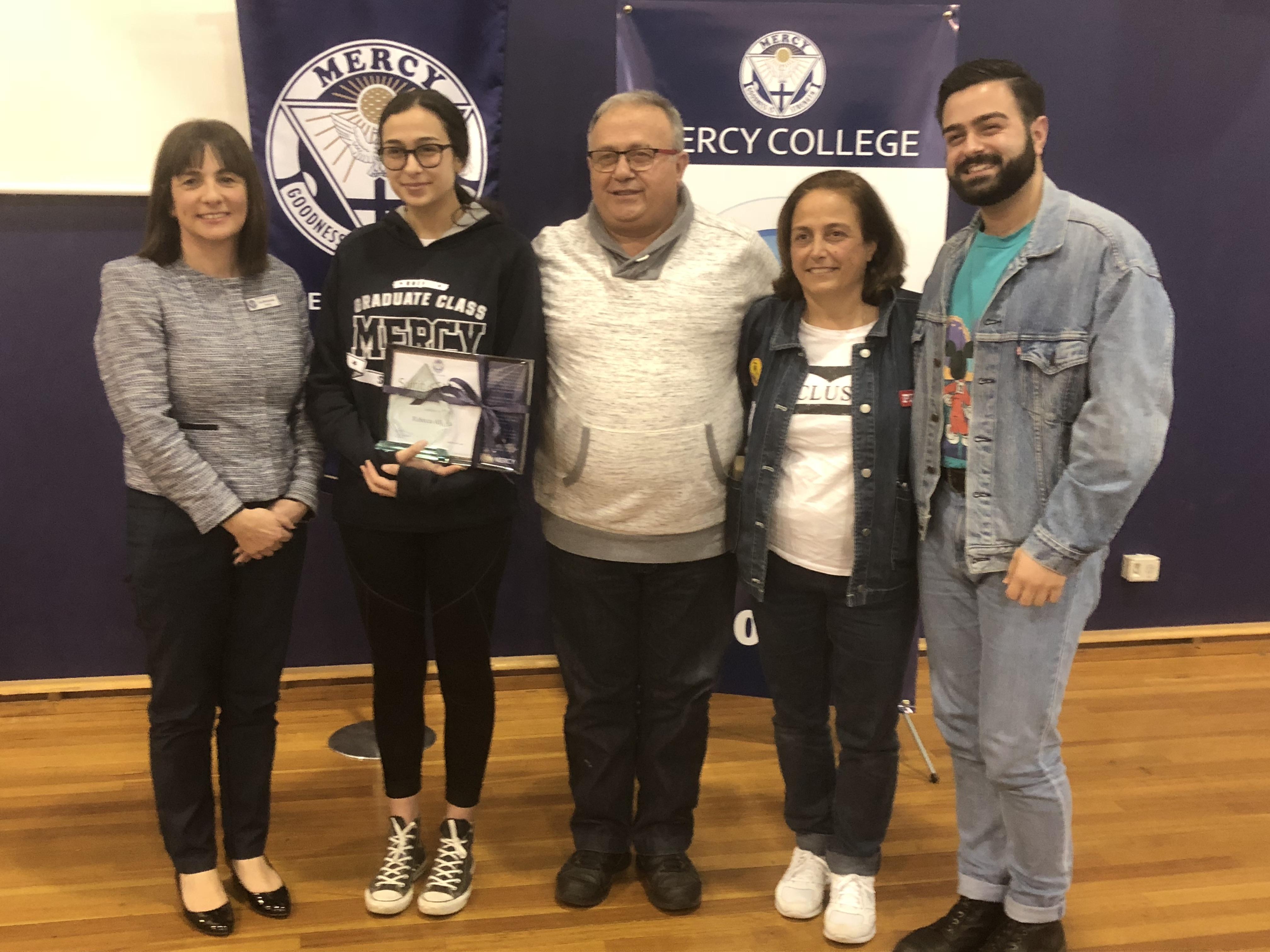 Spirit of Mercy Award 2018 - Rebecca Allaoui Year 12