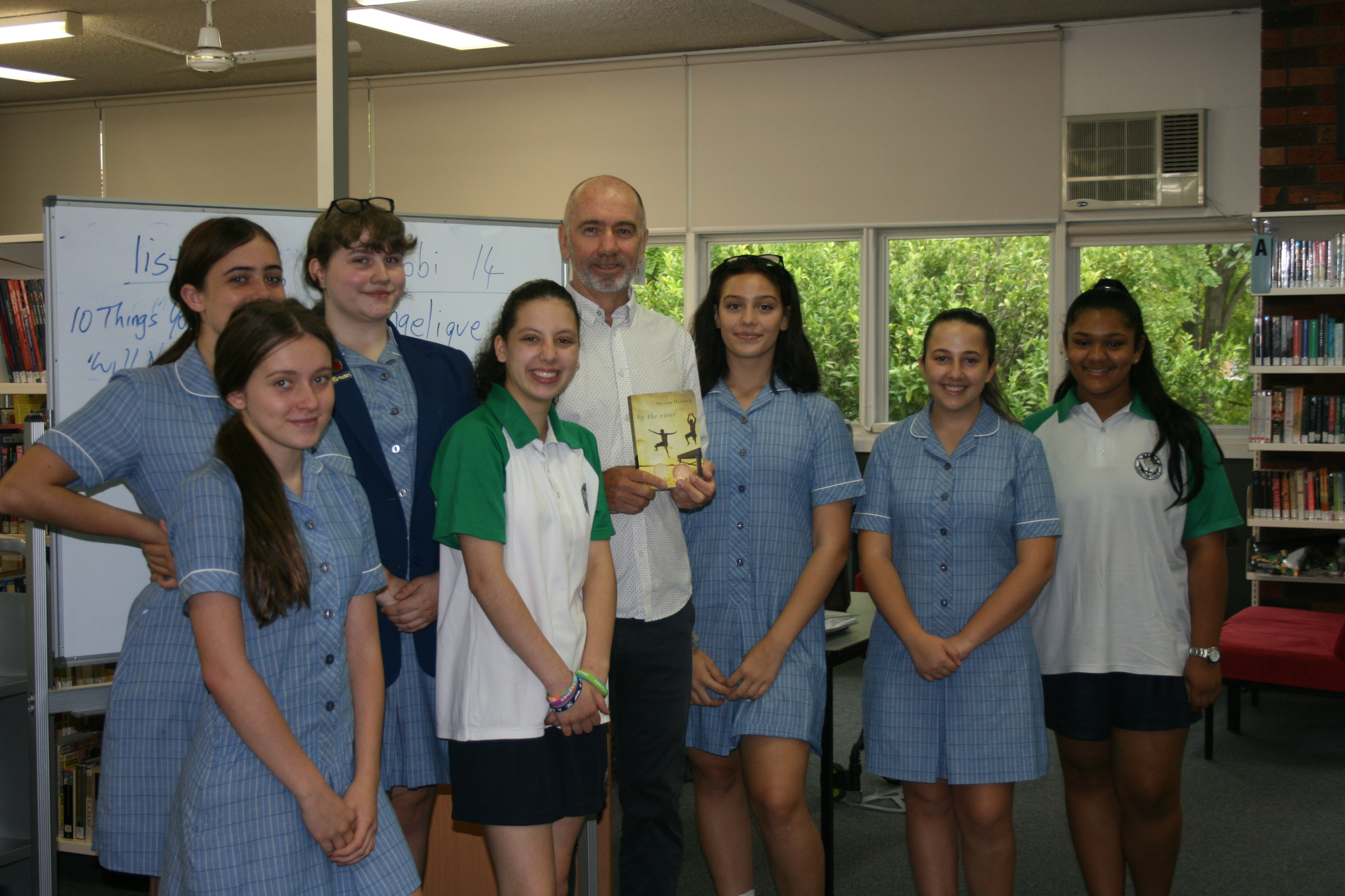 Visit by Steven Herrick poet and author of By the river