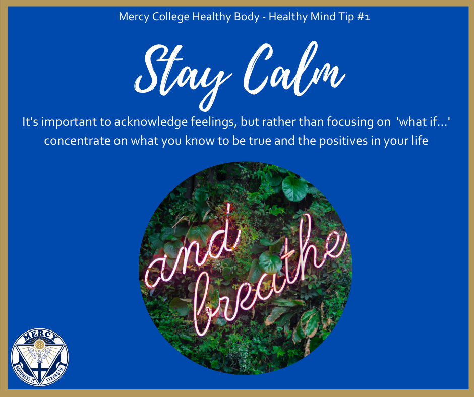 Mercy College Top Tips for a Healthy Body – Healthy Mind