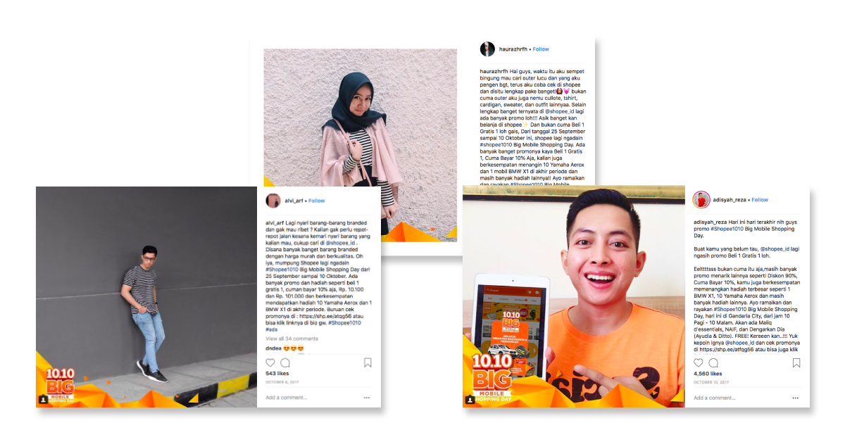 Branded Content and Influencer Marketing Campaigns - Shopee influencer case study